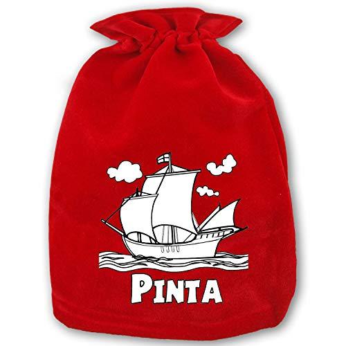 (Folding Sport Backpack Columbus Fleet Pinta On Columbus Drawstring Bag Home Travel Storage Use)