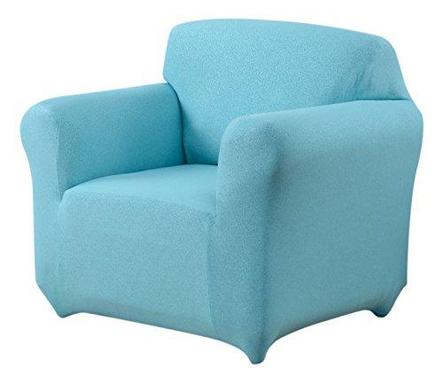 Madison Stretch Scroll Jersey Slipcover Chair, Aqua (Scroll Stretch)