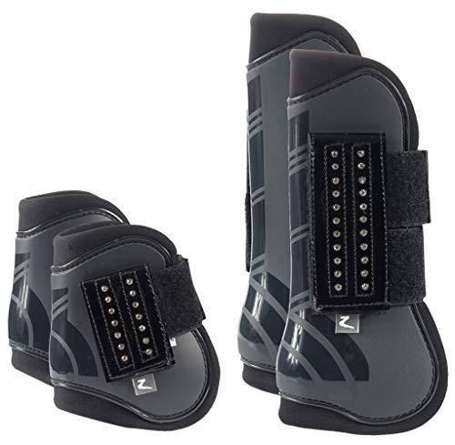 Horze Advanced ProTec Boot Set, Dark Navy, Horse ()