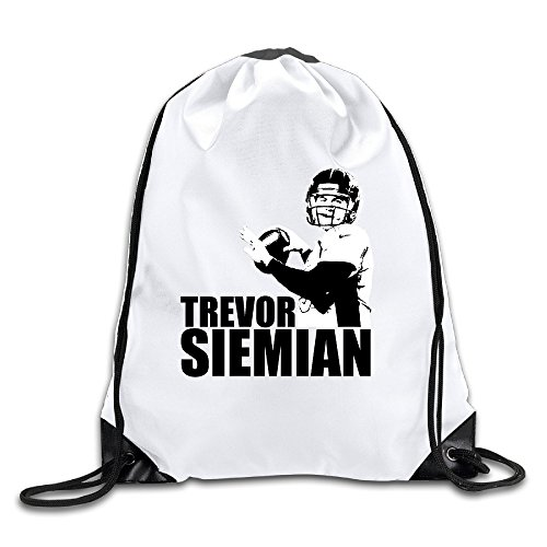 [EDRE Men's&Women's Trevor Siemian Geek Trevor Siemian Drawstring Shoulder Bag] (Trevor Halloween Costume)