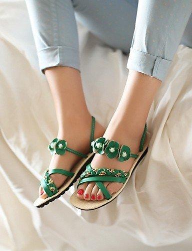 ShangYi Women's Shoes Heel Peep Toe / Toe Ring Sandals Outdoor / Dress / Casual Black / Blue / White / Orange