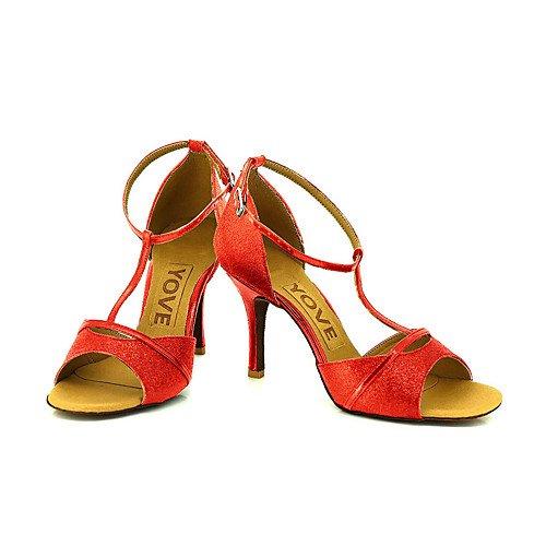 la de Rojo T Mujer Q de Baile Zapatos profesión rojo T de axZgnfw