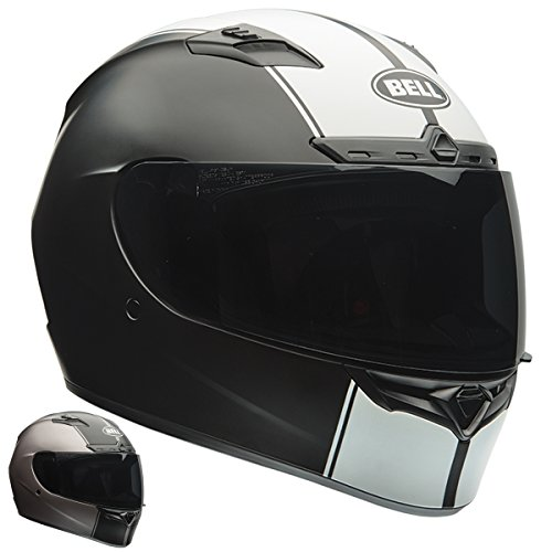 Bell Raly Adult Qualifier DLX On-Road Motorcycle Helmet - Matte Black/White / 2X-Large