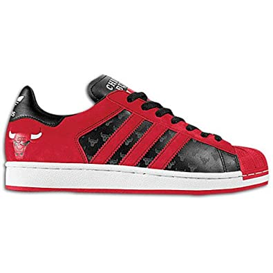 adidas Men'S Superstar Bulls Casual Shoe Black, Red (9.5