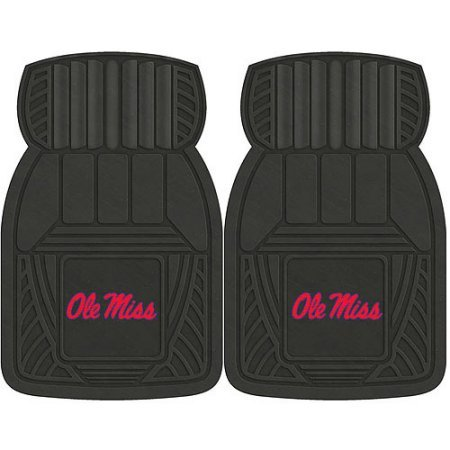 NCAA 4-Piece Front #36572598 and Rear #19888867 Heavy-Duty Vinyl Car Mat Set, University of Mississippi by Sports Licensing Solutions LLC