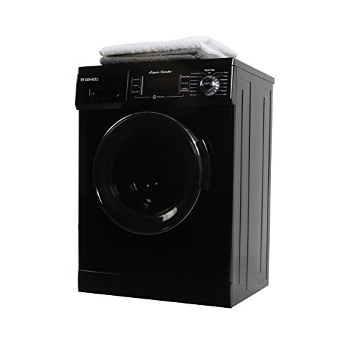 Front Load 1.6 Cu.ft. New Compact Combo Washer Dryer SK 4400 CV Black with Optional Venting/ Condensing Drying with Automatic Water Level and Sensor Dry
