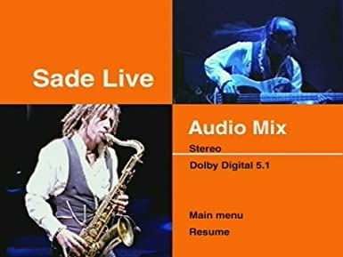Amazon.com: Sade Live: Sade, Sophie Muller, Niven Howie, Rob Small ...