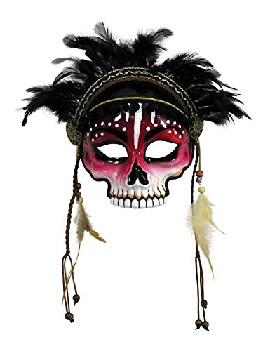Unisex-Adults Mask-Voodoo, Black, Standard ()
