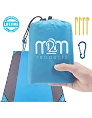 """M2M Pocket Blanket - Outdoor Beach Blanket Sand Proof. Sand Free Beach Blanket fits 7 Adults - 80""""x80"""" Packable Blanket - Sand Proof Beach Blanket w/bag. Portable Blanket for Travel,Hiking,and Camping"""