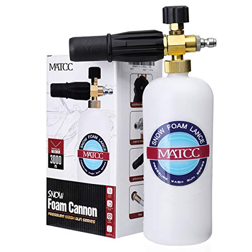 MATCC Foam Cannon II Foam Nozzle Pressure Washer Jet Wash with 1/4