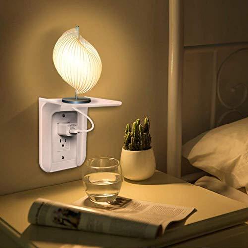 Gotian Ultimate Wall Outlet Shelf Power Perch, Easy Installation Wall Outlet Shelf Power Perch Shelf (A)]()