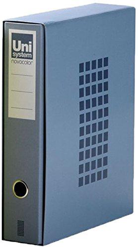 Unisystem 929733 - Caja de con un archivador, tipo folio, color azul