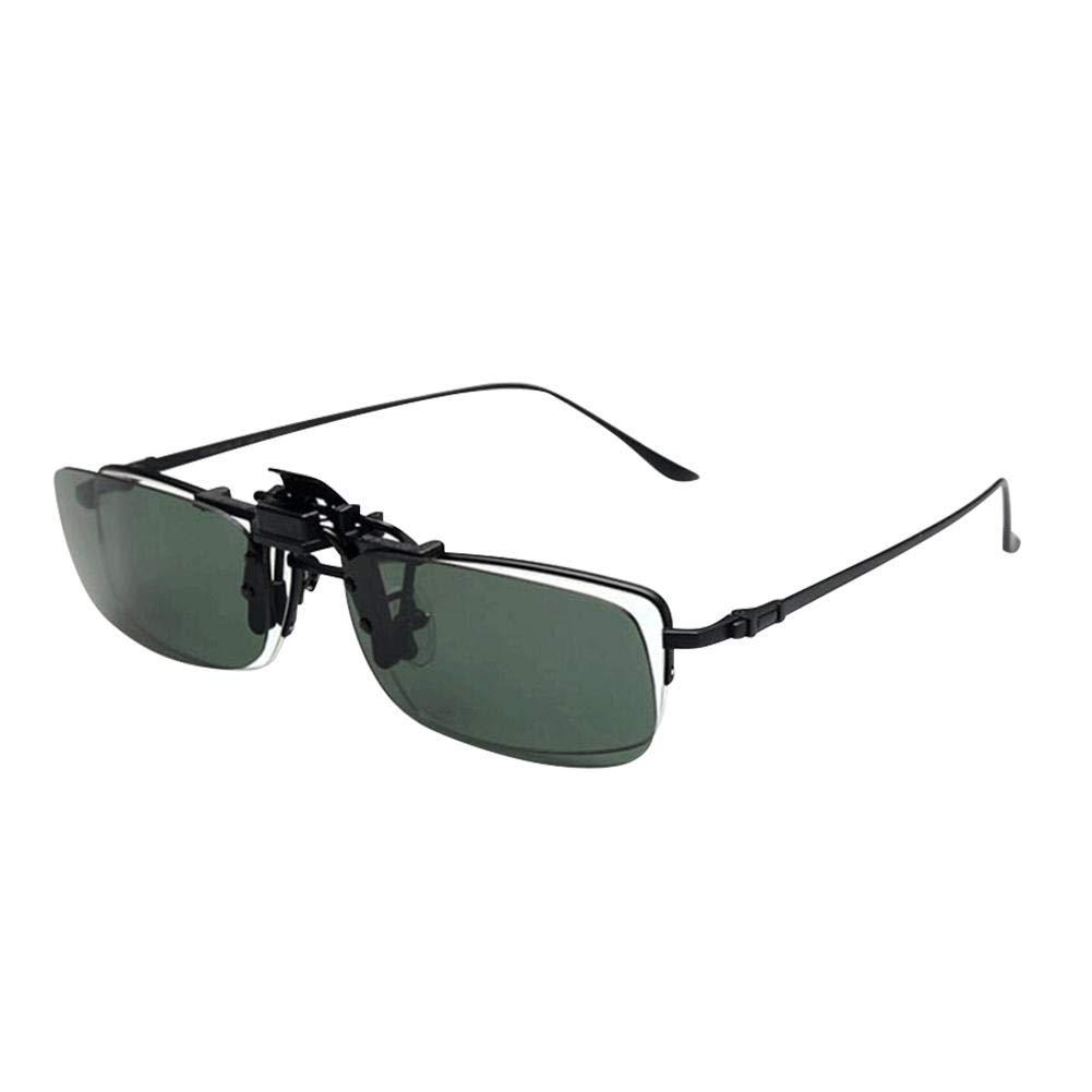 Unisex Sonnenbrille Nachtsicht Nicht polarisiert Linsen Blendschutz,Clip on Polarisiert Clip polarisierte Sonnenbrille Flip up Sonnenbrille Clip Gegen Licht f/ür Frauen und M/änner Unisex Brillentr/äger