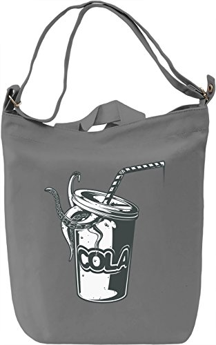Octopus cola Borsa Giornaliera Canvas Canvas Day Bag| 100% Premium Cotton Canvas| DTG Printing|