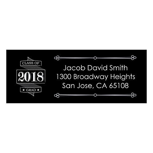 Grad Address Label (Custom Graduation Cheers - Personalized Custom Graduation Party Return Address Labels - Set of 30)
