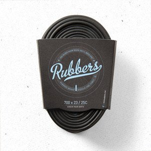 Rubbers Road Tube 700 x 23/25C PV/48mm Smooth Silver (3 Per Pack)