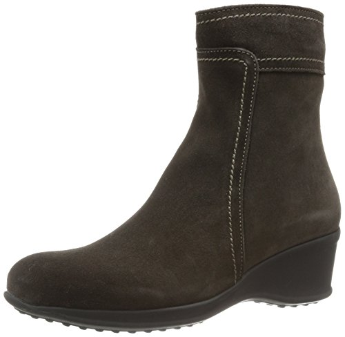 La Canadienne Suede Wedges - La Canadienne Women's Finley Ankle Boot,Espresso,6.5 M US