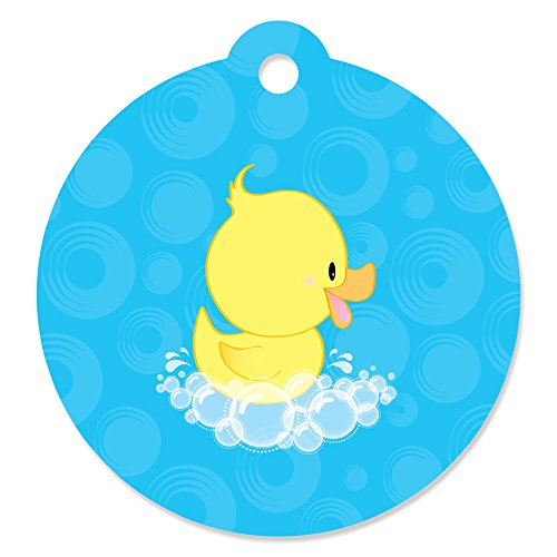 Ducky Duck - Baby Shower or Birthday Party Favor Gift Tags (Set of 20)