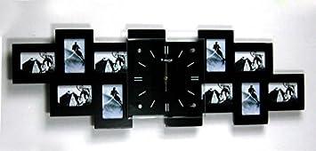 Amazon De Cc Creative Holz Bilderrahmen Wanduhr Uhren Wenn Mute