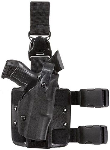 Safariland 6305 ALS Tactical Leg Holster with Detachable Leg Harness, Black, Right Hand, Glock 17 Safariland Thigh Holster