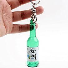 Korean Soju bottle Keychain keyring
