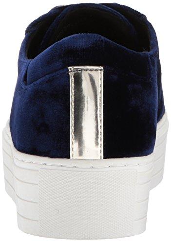 Kenneth Cole New York Womens Abbey Platform Allacciatura In Velluto Moda Sneaker Blu Scuro