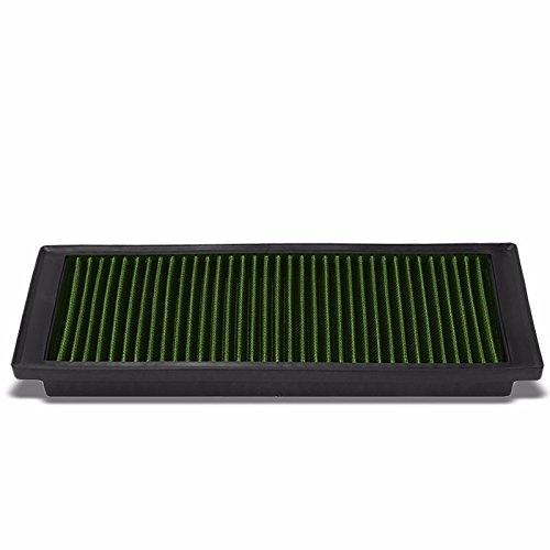 Reusable Green High Flow Drop-In Panel Air Filter Replacement For VW 08-17 Passat/09-17 Jetta/Tiguan/09-13 GTI/TT Quattro/12-15 Beetle