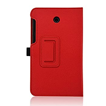 Acdream Asus Memo Pad 7 Lte Case, Premium Pu Leather Smart Cover Case For At&t Asus Memo Pad 7 Lte Gophone Prepaid Tablet Me375cl, Red 5