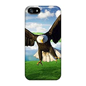 Awesome VfjdC3165NJwsg LUCKCom Defender Tpu Hard Case Cover For Iphone 5/5s- Bald Eagle Over The Lake