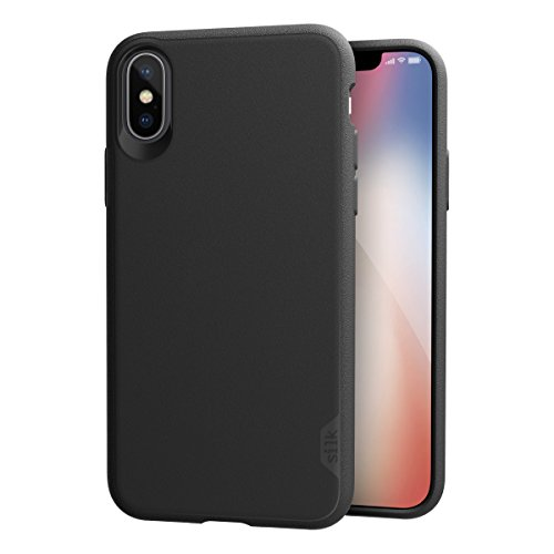 Xs Grip - Silk iPhone Xs/iPhone X Slim Case - Kung Fu Grip [Lightweight + Protective] Thin Cover for Apple iPhone 10 - Black Tie Affair