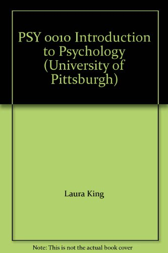 PSY 0010 Introduction to Psychology (University of Pittsburgh)