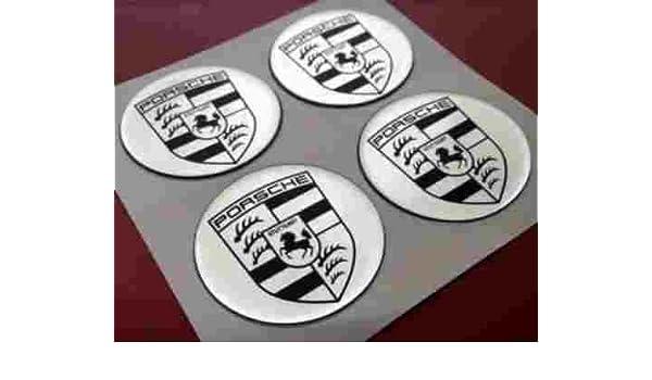 Porsche Pegatinas en plata ür Buje Tapa & Llantas & Tapacubos 60 mm: Amazon.es: Coche y moto