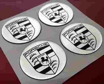Porsche Pegatinas en plata ür Buje Tapa & Llantas & Tapacubos ...