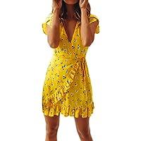 Wrap Dress,Hemlock Women Sexy Summer Bandage Bodycon Evening Party Casual Short Mini Dress