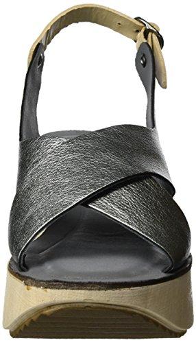 Lilimill Dark Dark Slingback Sandalen Silber (acciaio)