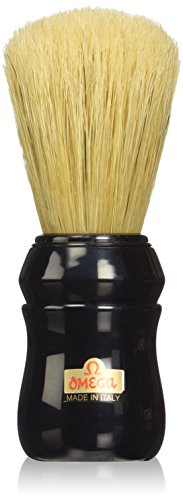 Omega Professional Boar Bristle Shaving Brush, Black Handle