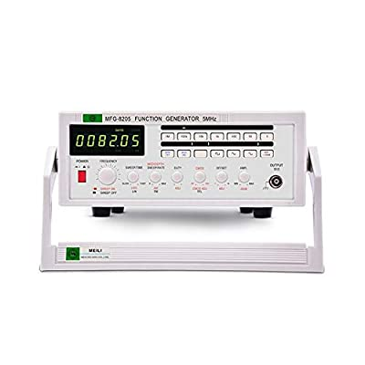 Function Signal Generator Frequency Meter 5MHz Multiple Waveform Signal Source Pulse MFG-8205 High Precision (Size : 110V)