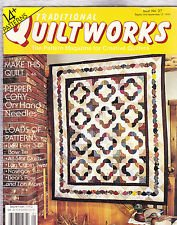 TRADITIONAL QUILTWORKS Magazine September 1993 Issue No. 27 (Quilt works, The pattern magazine for creative quilters, 3-D Bow tie, All-star quilts, log cabin twist, 14+ patterns) Bow Tie Quilt Pattern
