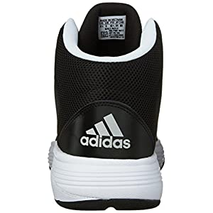 Adidas Neo Men's Cloudfoam Ilation Mid Basketball Shoe,Black/Metallic Silver/White,10 M US