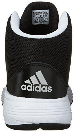 adidas Performance Herren Cloudfoam Ilation Mid Basketballschuh Schwarz / Metallic Silber / Weiß