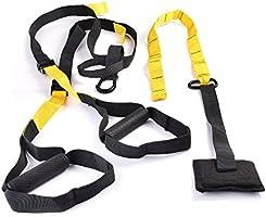 Matchu Sports - Suspension trainer - Allround fitnesstrainer - Volledig pakket - Zwart/geel - Perfect voor een allround...