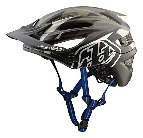 Troy Lee Designs Adult All Mountain XC Mountain Bike A2 Jet Helmet (Gray, Medium/Large)