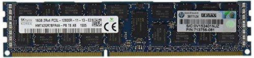 HP 16GB 2RX4 PC3L-12800R-11 DDR3 1600 (PC3 12800) Memory Kit 713985-B21 ()