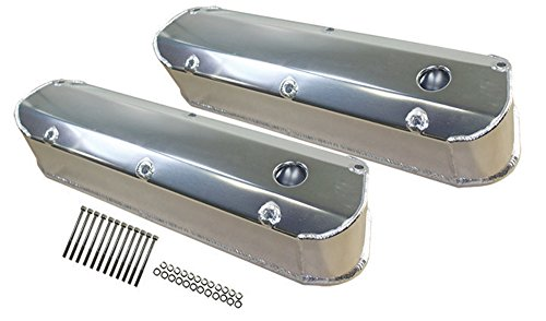 - Ford SBF Fabricated Polished Aluminum Long Bolt Tall Valve Covers 260-351W 62-85