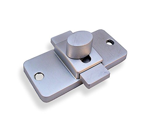 Chrome Plated Zamac Surface Mounted Slide Latch for Restroom Partitions - 2-3/4