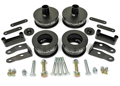 MotoFab Lifts 3 inch Front 3 inch Rear Full Lift Kit with Shock Extenders compatible with Jeep Wrangler JK ()