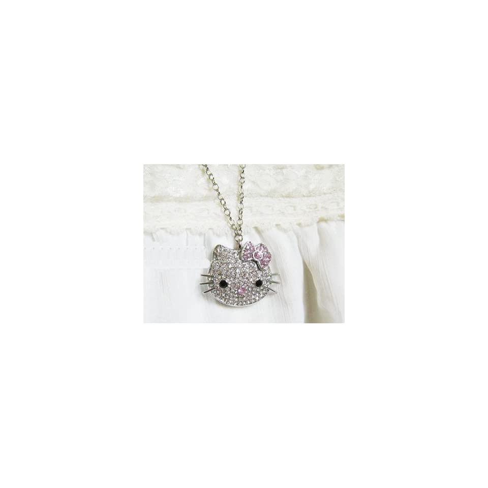 8 GB Hello Kitty Crystal Jewelry USB Flash Memory Drive Necklace
