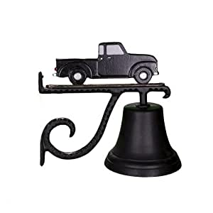 Montague Metal Products Cast Bell with Black and White Classic Truck