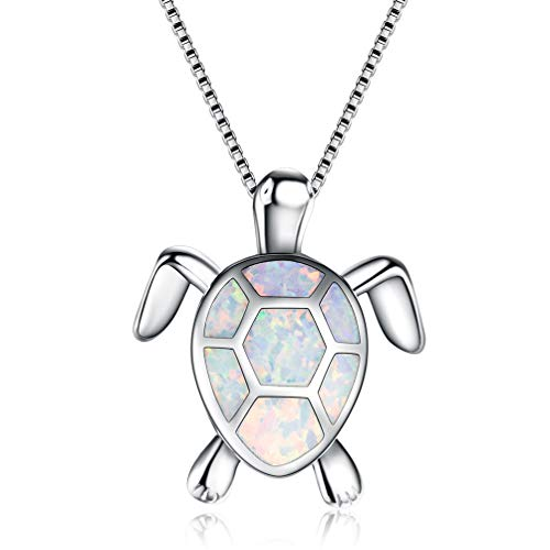 (Vanessa Australian Fire Opal Sea Turtle Rings Pendant Necklace 18