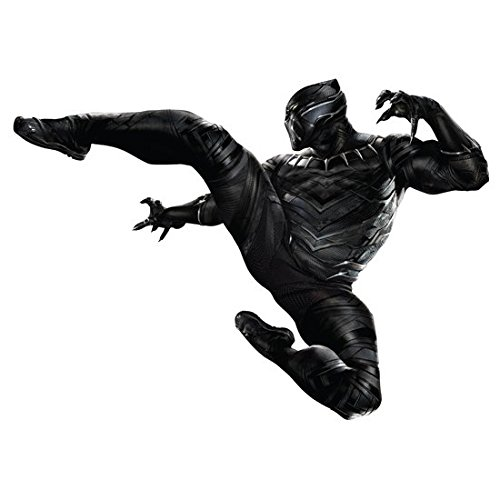 Chadwick Boseman/Black Panther (8 inch by 10 inch) PHOTOGRAPH The Avengers Age of Ultron The Winter Soldier Civil War Kicking w/Claws Extended White Background (Panthers Photograph)